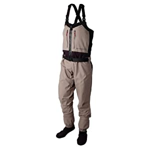 Redington Ladies Sonic Pro Zip Front Fishing Wader, Driftwood, Small by Redington