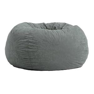 Comfort Research Classic Bean Bag in Comfort Suede, Steel Grey