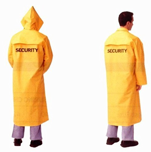 "SECURITY Long 49"" Rain Coat Poncho Rain Gear YELLOW Size EXTRA EXTRA LARGE"