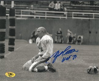 ya-tittle-signed-new-york-giants-blood-sepia-horizontal-8x10-photo-hof-71
