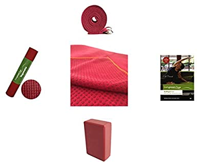 **limitierte Aktion** Komplett-Set | Yogamatte, Yogahandtuch, Yogagurt, Yogablock + gratis Yoga DVD