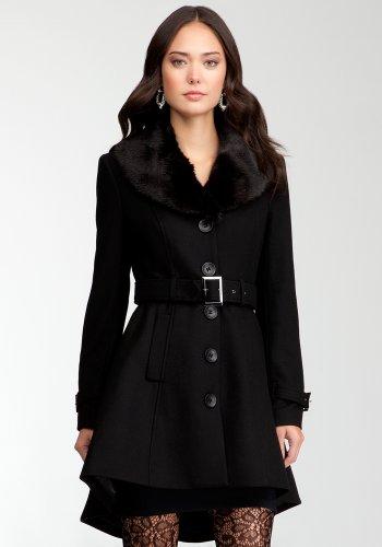 bebe Hi-lo Wool Coat