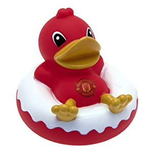 Official Manchester United FC Rubber Dinghy Duck - A Great Gift / Present For Babies, Toddlers For Christmas, Birthdays, Christenings Or Just As A Treat For Any Avid Football Fan