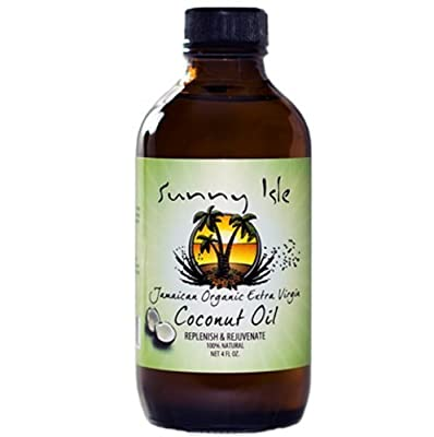 Sunny Isle Jamaican Organic Extra Virgin Coconut Oil Replenish & Rejuvenate !00% Natural - No Salt added 6 Oz by Sunny Isle