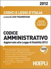Cover *CODICE AMMINISTRATIVO 2012 Aggiornato ala Legge di Stabilità 2012