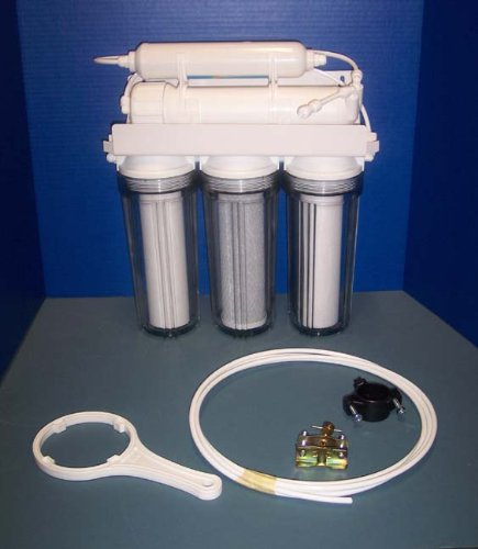 """5 Stage 100 Gallon Per Day Reverse Osmosis """"Reef"""" System With Deionizing stage"""