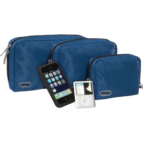 Ebags Padded Pouches - 3 Pc Set (Denim) front-853667