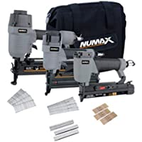 NuMax 3-Piece Pneumatic Finish Combo Kit with 16-Gauge Nailer & 18-Gauge 2-in-1 Brad Nailer