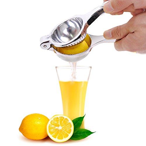 Presse-citron, E-PRANCE Premium Manuel Extracteur de jus Presse-agrumes , Conception robuste, Convient pour Jus d'orange, de citron et d'autres fruits sans coque (Argent)