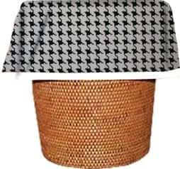Designerliners Black Tattersol Stylish Eco Green Biodegradable Plastic Waste Basket