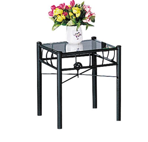 ACME 02160 Sunburst Nightstand, Black Finish