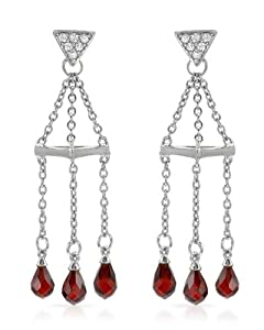 Genuine Morne Rouge (TM) Earrings. Cubic Zirconia Sterling Silver Earrings - Material/Stone: Cubic Zirconia. 5.9 Grams in Weight and 44 mm in Length. 100% Satisfaction Guaranteed.
