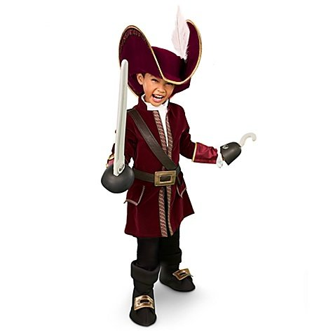 Disney Store Captain Hook Pirate Costume for Boys Size Small 5/6