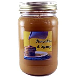 Pancakes & Syrup Scented Soy Candle Large 16 Ounces, Long Lasting Burn Time With This Premium High Quality Clean Burning 16oz Large Jar Candle. A Creamy Caramel And Maple Blend With Subtle Hints Of Cinnamon And Nutmeg. 100% Biodegradable Eco-Friendly Soy Wax, Made In USA