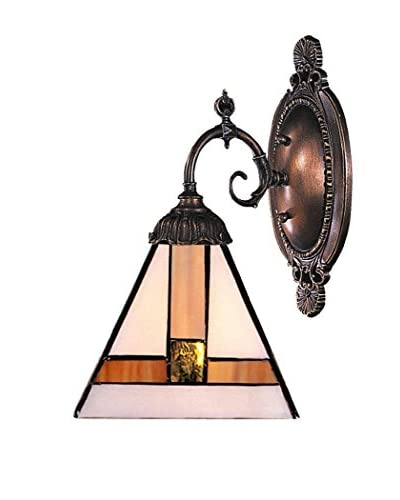 Artistic Lighting Mix-N-Match Tiffany Mission Style LED Wall Sconce, Bronze