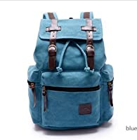 New Men Women Vintage Canvas Rucksack Backpack Retro Vintage for Outdoor Sports Backpack from Mytom
