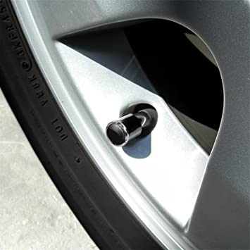 Nissan 370Z Z logo in White on Shining Silver Aluminum Tire Valve Stem Caps