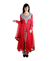 Sabrang Red Elegant Occasion Wear Suit With Royal Touch And Stylish Embroidery.