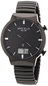Mike Ellis New York Herren-Armbanduhr XS Analog - Digital Quarz Edelstahl beschichtet M2944ABM/1