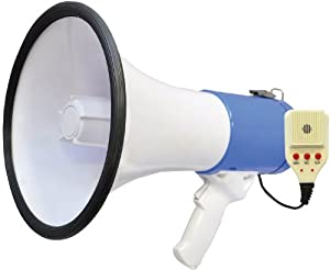 Pyle PMP59IR 50 Watts Professional Rechargeable Lithium Battery Megaphone with Talk... by PylePro