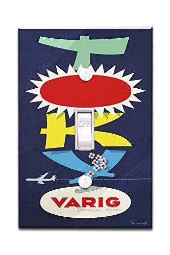 varig-tokyo-vintage-poster-artist-fagundes-brazil-c-1960-light-switchplate-cover