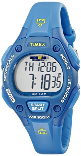 Timex Women's T5K7579J Ironman Traditional 30-Lap Teal Resin Strap Watch (Iron Man Woman compare prices)
