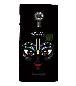 Fuson Premium Artistic Krishna Printed Hard Plastic Back Case Cover for Alcatel Flash 2