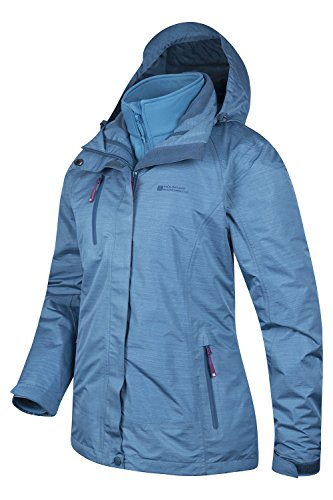 Mountain Warehouse Bracken Melange 3-in-1-Damenjacke mantel Blau DE 34 (EU 36) -
