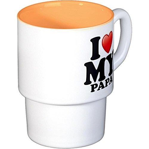Stackable Coffee Mugs (4) I Love My Papa Grandpa Grandfather