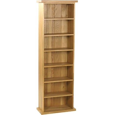 Oak CD Rack - 7 Shelves - Audio Storage - Traditional Design