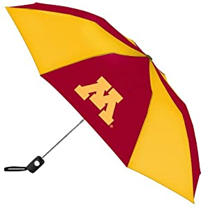 Buy NCAA Minnesota Golden Gophers Automatic Folding Umbrella by WinCraft