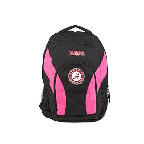 NCAA Alabama Crimson Tide DraftDay Backpack, 18-Inch, Black/Pink