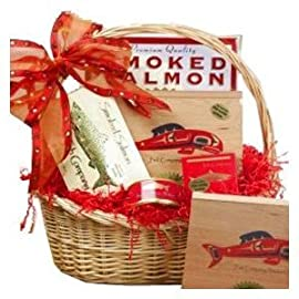 Smoked Salmon Seafood Lovers Kosher Red Gourmet Food Gift Basket