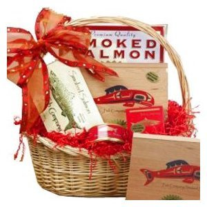 Art of Appreciation Gift Baskets Red Smoked Salmon Seafood Lovers Basket image
