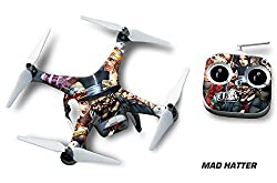Designer decal wrap skin for DJI Phantom 2 Quadcopter Drone - Mad Hatter