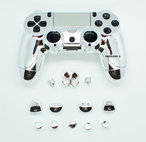 greenzone-r-chrome-silver-playstation-4-controller-shell-with-button-mod-kit-uk-company