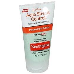 Neutrogena Acne Stress Control Power-Clear Scrub 4.2 Ounce (Pack of 3)