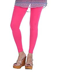 Lal Chhadi women's Cotton Lycra Chudidaar Pink Leggings.