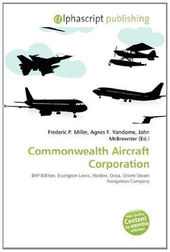 commonwealth-aircraft-corporation-bhp-billiton-essington-lewis-holden-orica-orient-steam-navigation-