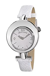 John Galliano Ladies Watch R1551101645 In Collection The Iconist, 2 H and S, White Dial and Strap