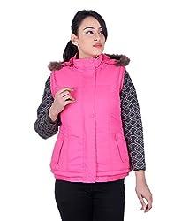 Montreal Women Jacket(Pink,Large)