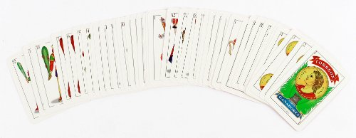 La Mexicana Playing Cards, Red, 3-Pack