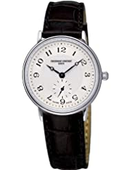 Frederique Constant Women's FC-235AS1S6 Slim Line Black Leather Strap Watch