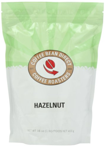 Coffee Bean Direct Hazelnut Flavored, Whole Bean Coffee, 16-Ounce Bags (Pack of 3)