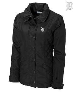 Detroit Tigers Ladies WeatherTec Granite Falls Jacket Black by Cutter & Buck