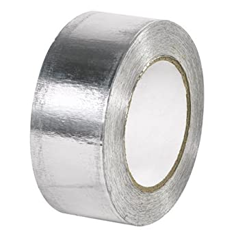 """Aviditi T967003 Aluminum Industrial Foil Tape, 5 mil Thick, 60 yds Length x 2"""" Width, Silver (Case of 24)"""