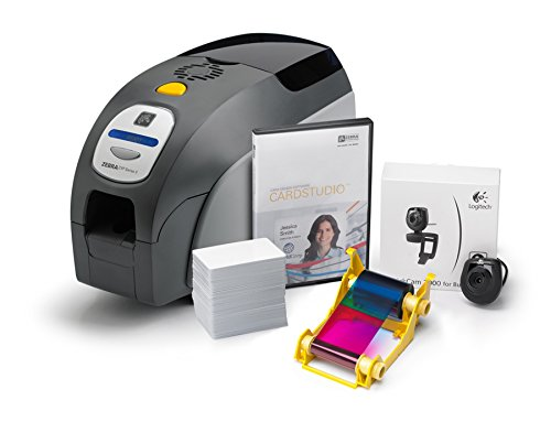 Zebra Z31-0000B200US00 QuikCard ID Solution ZXP Series 3 ID Card Printer, Single-Sided Cards, Monochrome or Color, 300 dpi, 9.3
