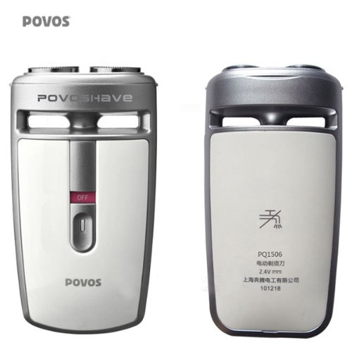 Dual Shaving Povos Pq1506W Battery Powered (Silver)