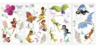Disney Fairies Wall Decals with Glitter - 1