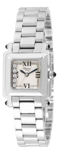 Chopard Women's 278893-3006 Happy Sport Diamond White Dial Watch
